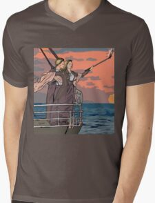 Titanic selfie Mens V-Neck T-Shirt