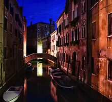 Impressions of Venice - Wandering Around the Small Canals at Night by Georgia Mizuleva