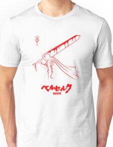 The Black Swordsman - Guts - Berserk - Red Outline Unisex T-Shirt