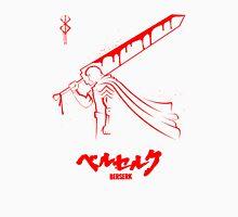 The Black Swordsman - Guts - Berserk - Red Outline T-Shirt