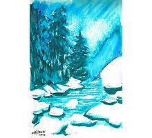 Snowy Creek Banks Photographic Print