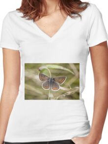 Brown Argus Women's Fitted V-Neck T-Shirt
