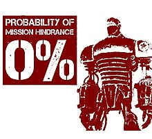 Liberty Prime Mission Hindrance 0% (rust color) Photographic Print