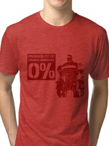 Liberty Prime Mission Hindrance 0% (rust color) Tri-blend T-Shirt