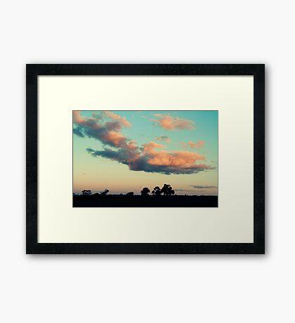 saturday eve Framed Print