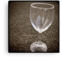 stuff on the road - wine glass Canvas Print