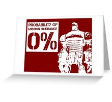 Liberty Prime Mission Hindrance 0% (white color) Greeting Card