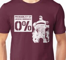 Liberty Prime Mission Hindrance 0% (white color) Unisex T-Shirt