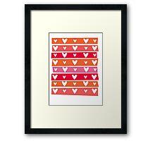 Washi Hearts Framed Print