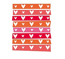 Washi Hearts Photographic Print