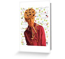She Loved Cookies Greeting Card