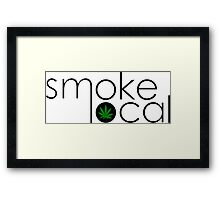 Smoke Local Weed Logo Green Marijuana Leaf Framed Print