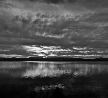 Sunrise In Black & White, Lake Tahoe, California & Nevada by Scott Johnson