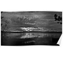 Sunrise In Black & White, Lake Tahoe, California & Nevada Poster