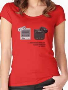 Juicy - Super Nintendo Sega Genesis Women's Fitted Scoop T-Shirt