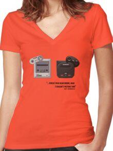 Juicy - Super Nintendo Sega Genesis Women's Fitted V-Neck T-Shirt