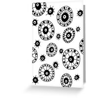 Black and White #4 Greeting Card
