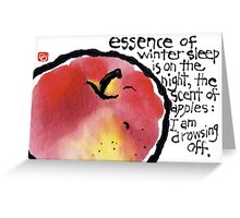 Frost Apple Greeting Card
