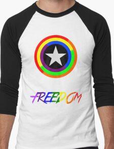 Captain Freedom Men's Baseball ¾ T-Shirt