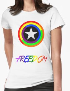 Captain Freedom Womens Fitted T-Shirt