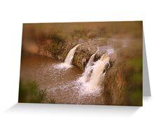 Turpin Falls in Warm Tones Greeting Card