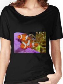 Two False Clown Anemonefish, Kapalai, Sabah, Malaysia Women's Relaxed Fit T-Shirt