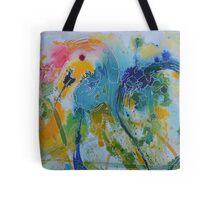 Parrot Nibbling Foliage Tote Bag