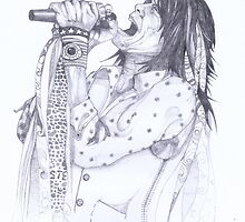 Steve Tyler, Aerosmith by Spencer Holdsworth Art