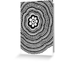 Black and White #5 Greeting Card