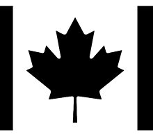 "CANADA, CANADIAN, Canadian Flag, National Flag of Canada, Funeral, Mourning,  ""A Mari Usque Ad Mare"" Pure & Simple in BLACK,  by TOM HILL - Designer"