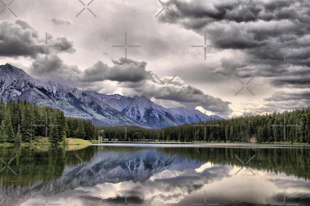 Cascade Mountain & Johnson Lake by Vickie Emms