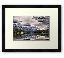 Cascade Mountain & Johnson Lake Framed Print