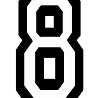 8, TEAM SPORTS, NUMBER 8, EIGHT, eighth, competition by TOM HILL - Designer