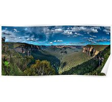 Grose Valley panorama, Blue Mountains Poster