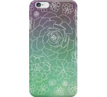 Succulents - Paper Gradient iPhone Case/Skin