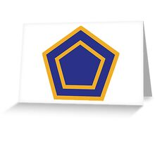 55th Infantry Division (United States - Historical) Greeting Card