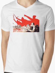 USSR Propaganda - Attack Mens V-Neck T-Shirt