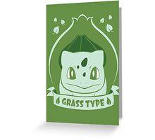 Grass Type Greeting Card