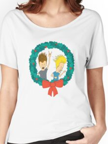 beavis and butthead christmas Women's Relaxed Fit T-Shirt