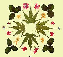 Dried Leaf Mandala by Freja Friborg
