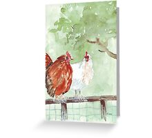 The Chicken Run Greeting Card