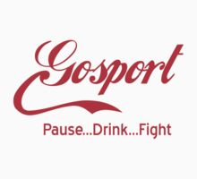 Gosport - Pause..Drink..Fight RED Kids Tee