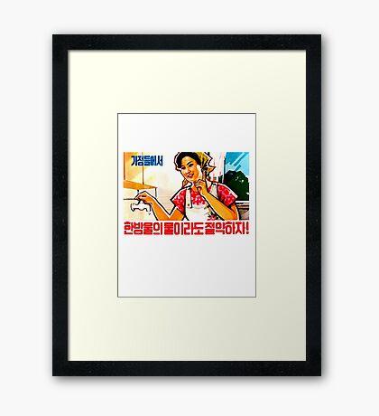 North Korean Propaganda - Plumbing Framed Print