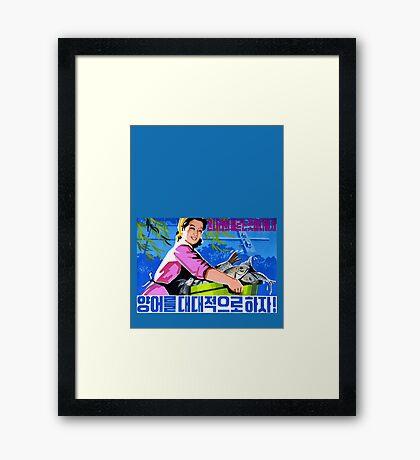North Korean Propaganda - Fish Framed Print