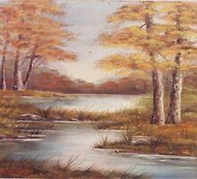 Autumn Pond by TeriAbb