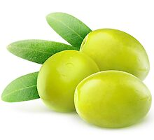 Three green olives by 6hands