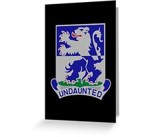 119th Infantry Regiment (United States - Historical) Greeting Card