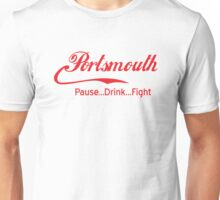 Portsmouth - Pause..Drink..Fight RED Unisex T-Shirt