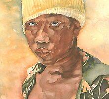 Boy in a beanie by Liz Watt
