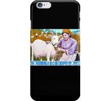 North Korean Propaganda - Goat iPhone Case/Skin